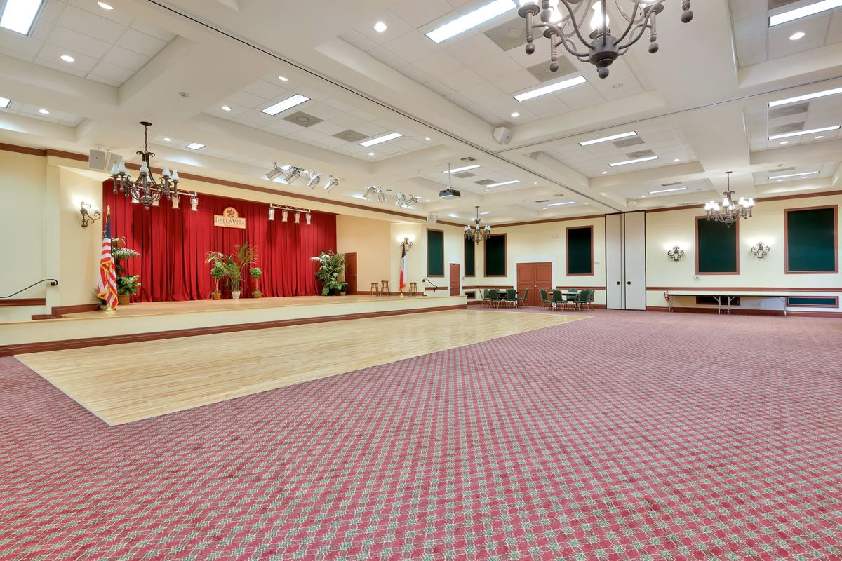 Ballroom with a Stage