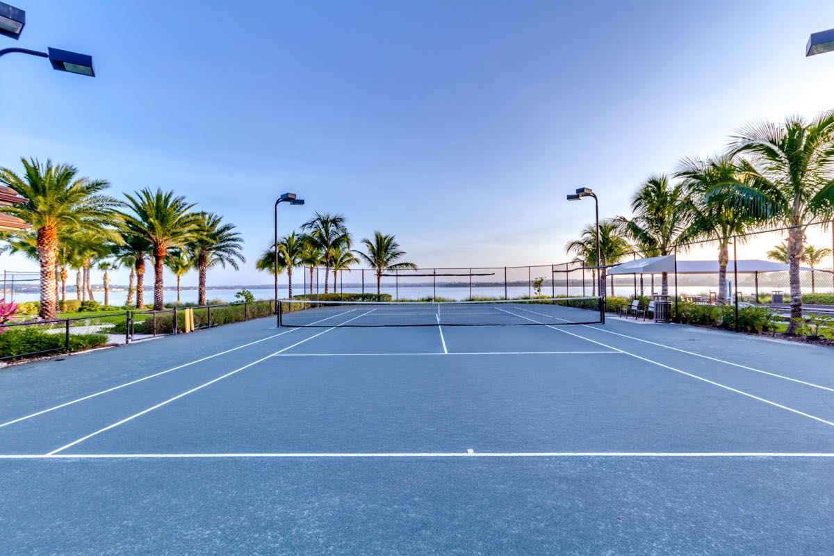 5 Lighted Tennis Courts