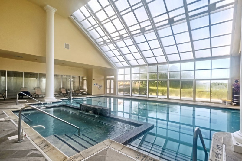 Indoor Pool with Retractable Roof