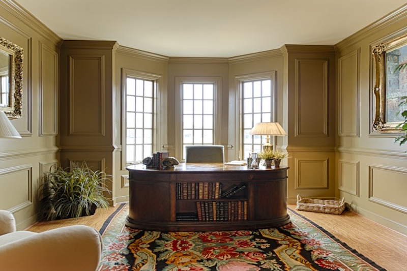 First-Floor Study with Hardwood Flooring