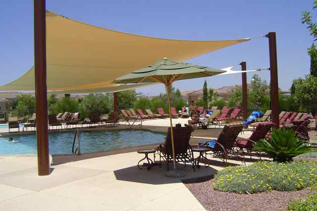 Shaded Pool Areas