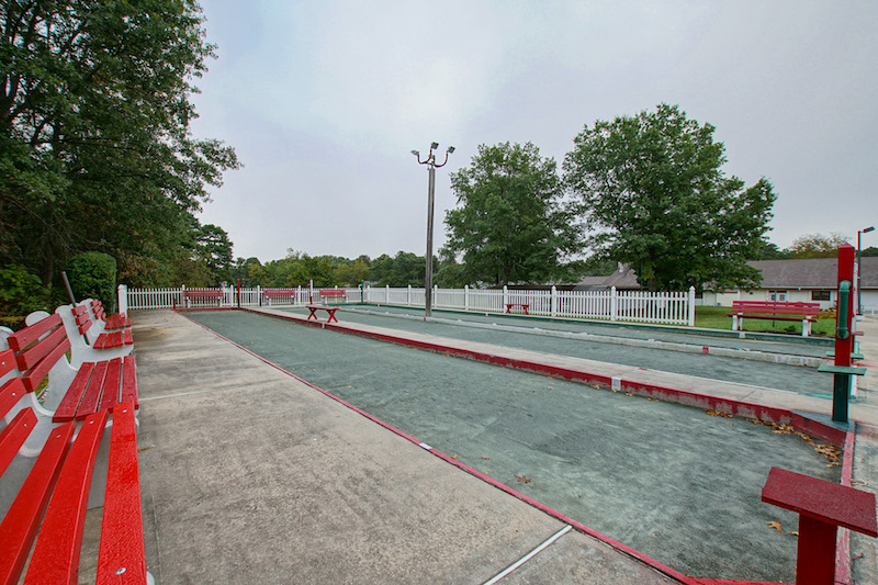 Three Bocce Ball Courts