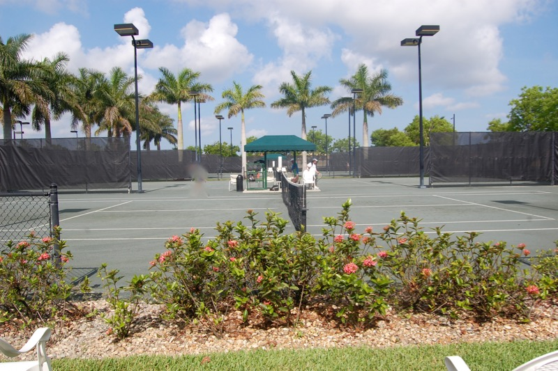 7 Lighted Har-Tru Tennis Courts