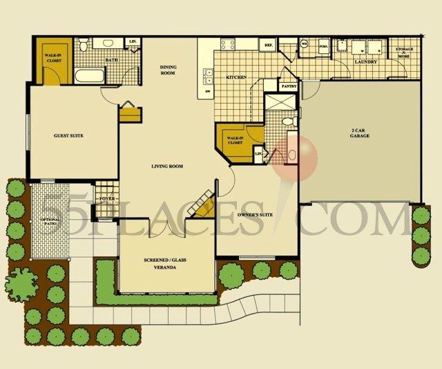 Abbey Floorplan 1500 Sq Ft Timbers Edge Villas