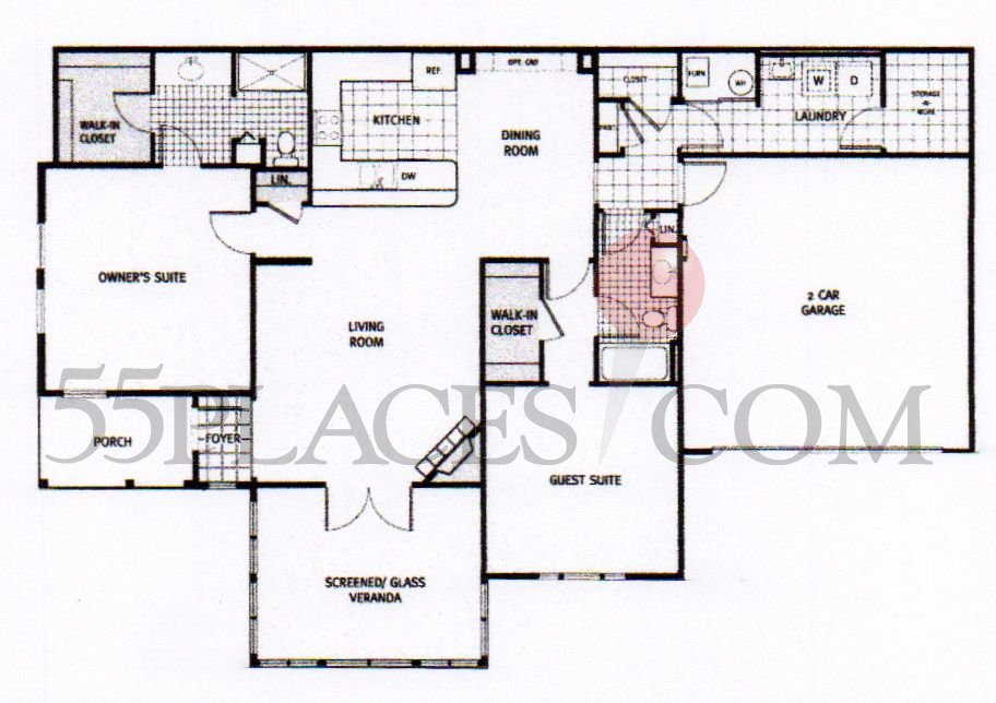 Abbey Floorplan 1700 Sq Ft The Fairways At Savannah