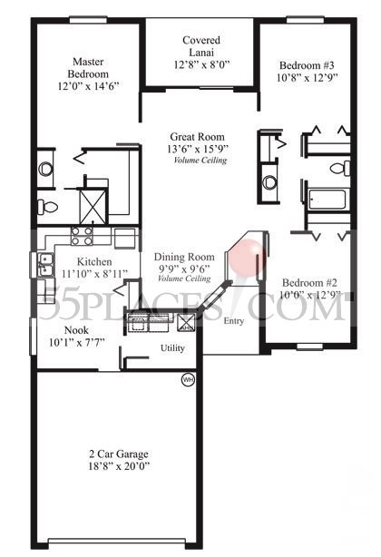 Alderwood Floorplan 1377 Sq Ft Summerglen 55places