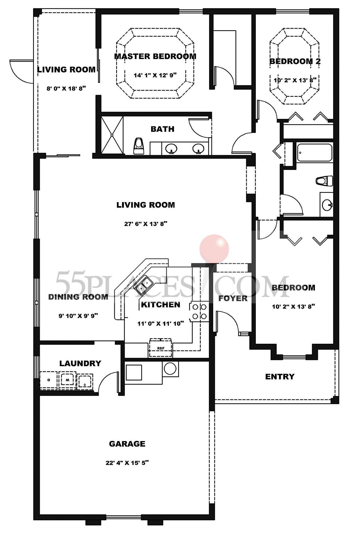 Arlington Floorplan 1667 Sq Ft The Villages