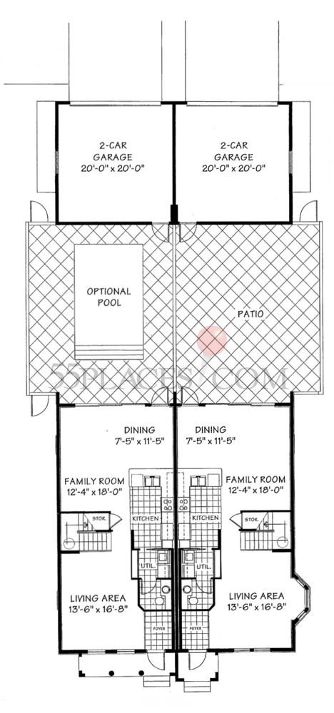 Aruba Floorplan | 1771 Sq. Ft | Island Walk | 55places.com