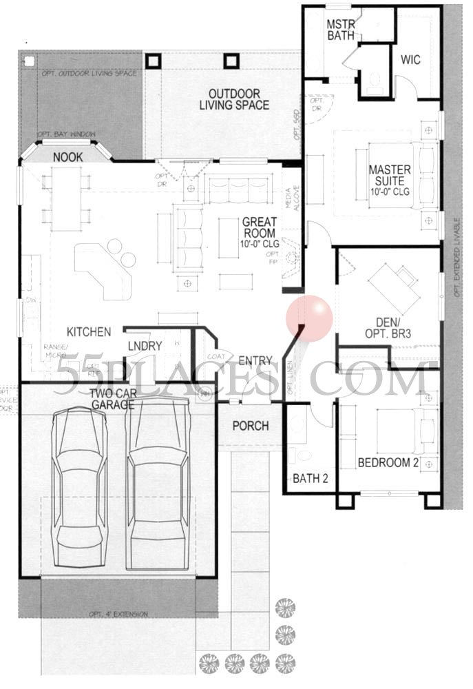 Augusta Floorplan 1432 Sq Ft Robson Ranch Texas