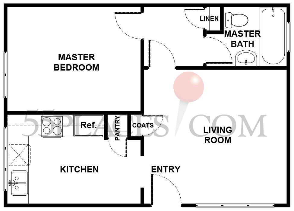 Avalon Floorplan 672 Sq Ft Leisure Village