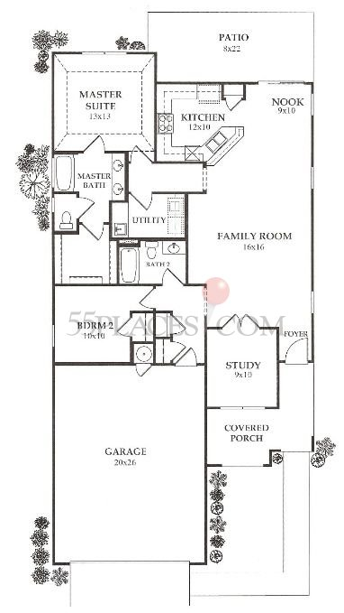 Azalea Floorplan 1505 Sq Ft Frisco Lakes 55places Com