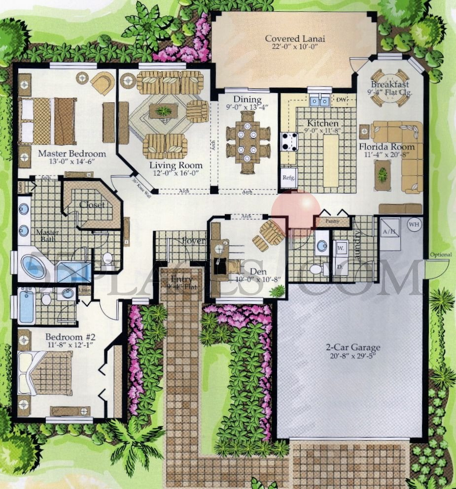Bach floorplan 1800 sq ft solivita for Bach floor plans