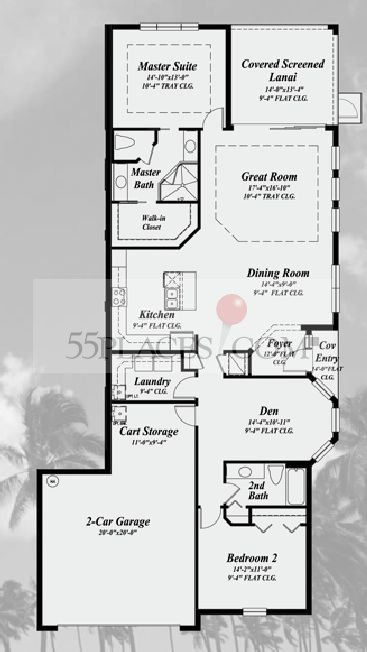 Bayan Floorplan 1735 Sq Ft Kings Point 55places Com