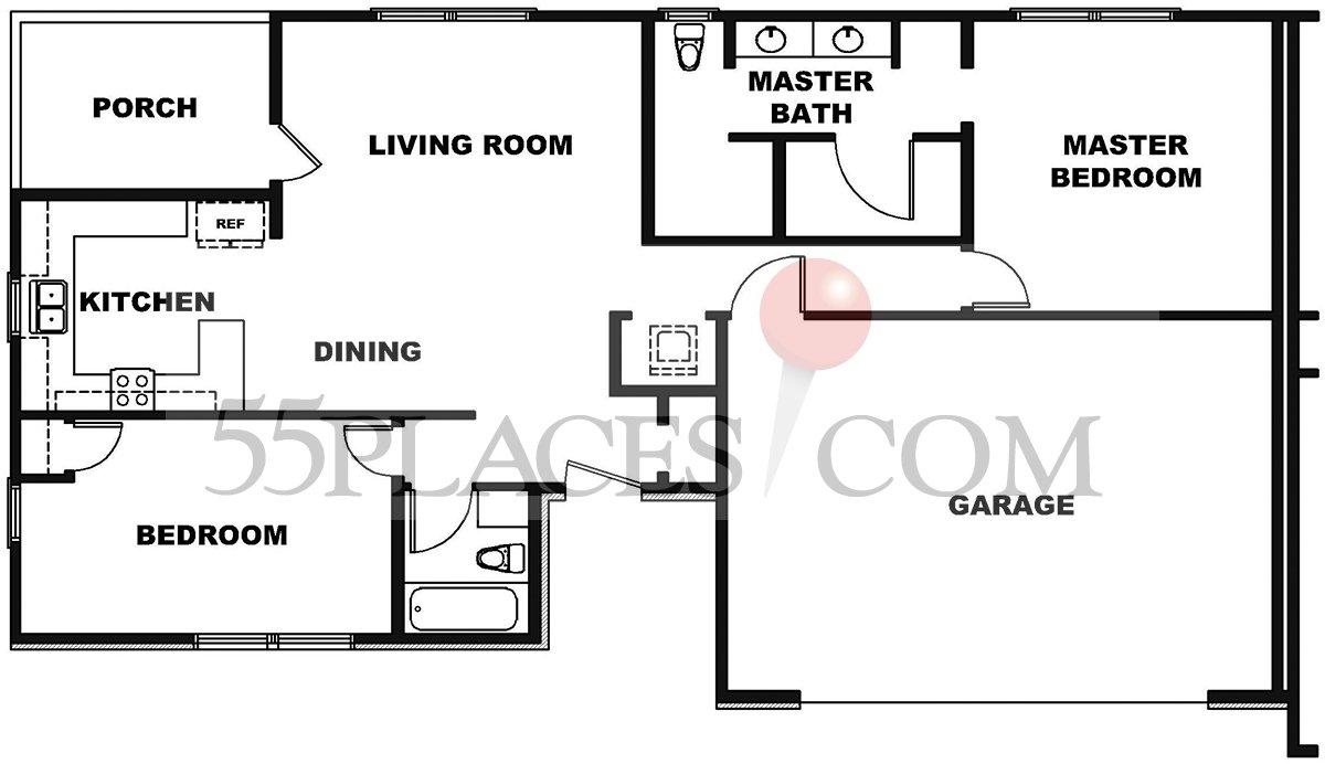 Single family homes floorplan 1200 sq ft downey for Single family floor plans