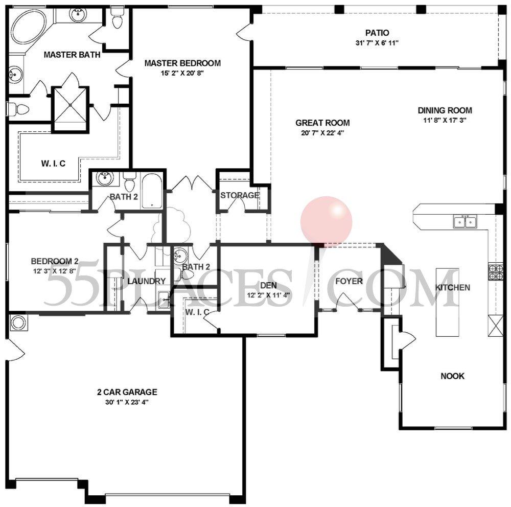 Bedford Floorplan 2617 Sq Ft Woodbridge 55places