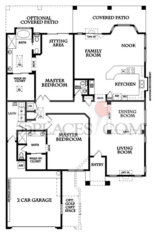 Borgata Floorplan 2562 Sq Ft Sun Lakes 55places Com