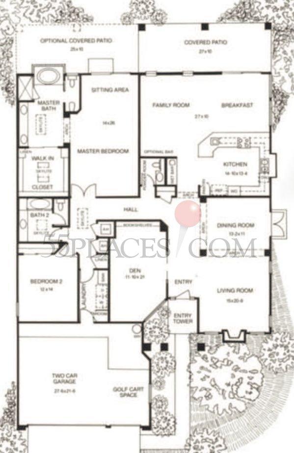 Elevation Plan Layout : Borgata floorplan sq ft saddlebrooke places