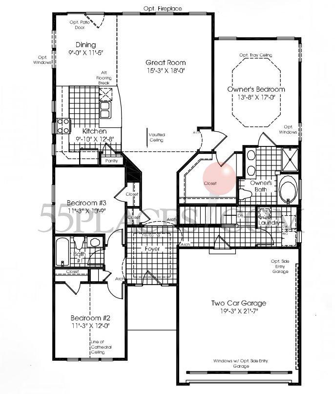 Brentwood Floorplan 1730 Sq Ft Horizons At Woodlake