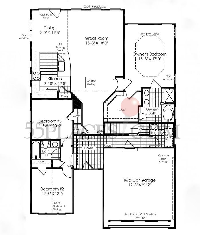 Brentwood floorplan 1730 sq ft stonegate west for Brentwood floor plan
