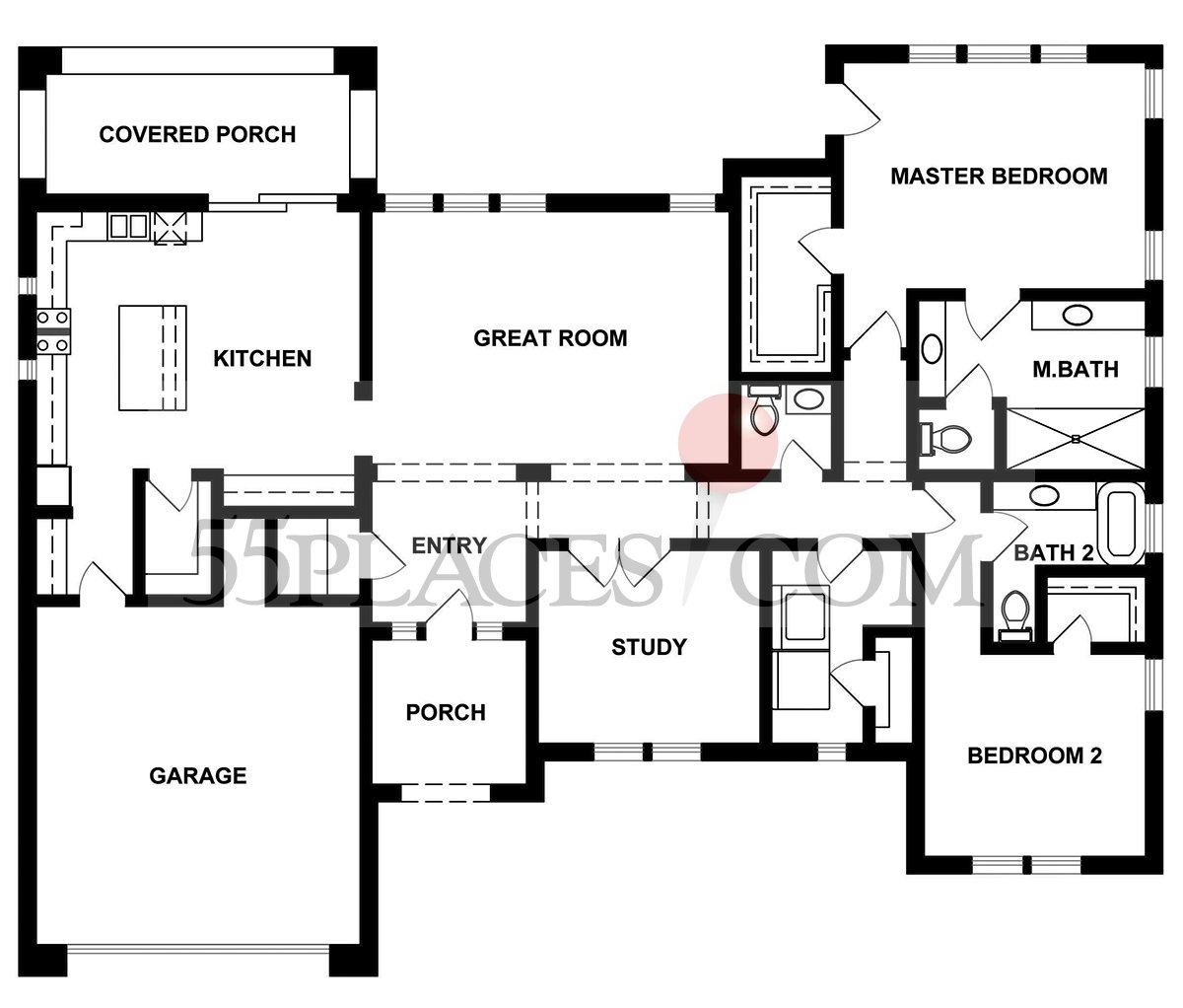 Bryant Floorplan 2335 Sq Ft Kissing Tree – Kissing Tree Site Plan