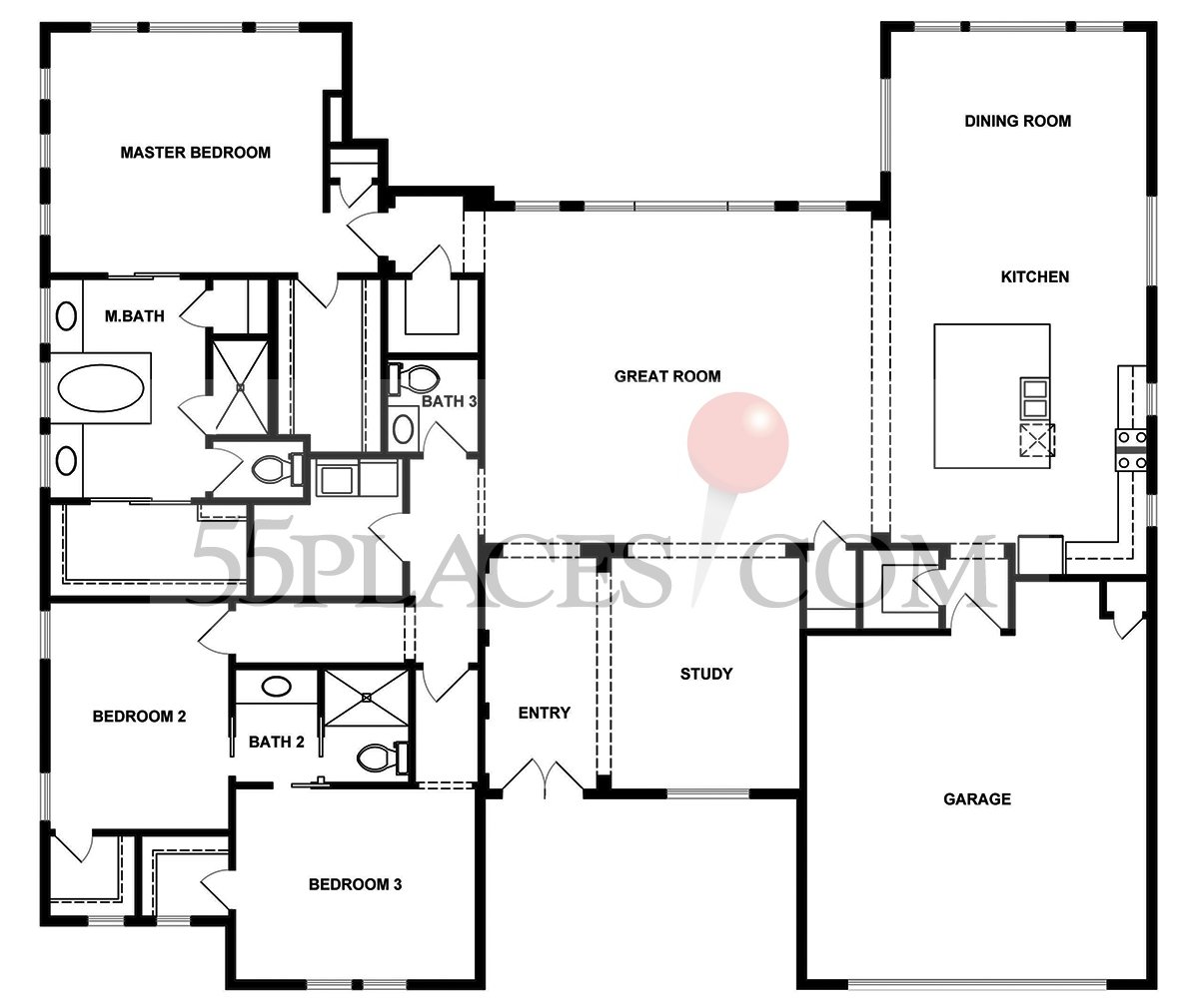Bryn Mawr Floorplan 3079 Sq Ft Kissing Tree – Kissing Tree Site Plan