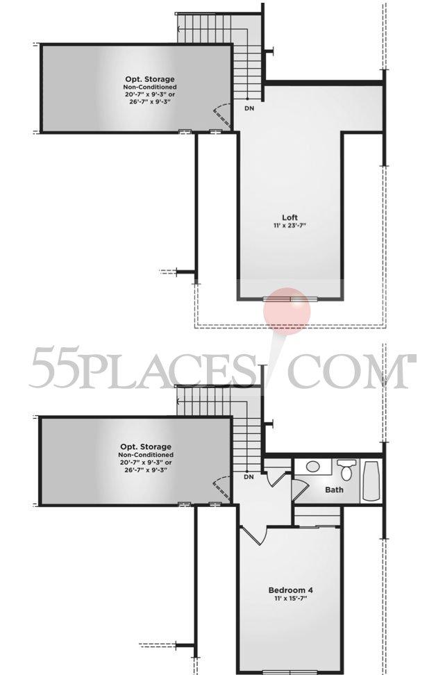 Brooks Floorplan 2035 Sq Ft Spring Arbor 55places Com