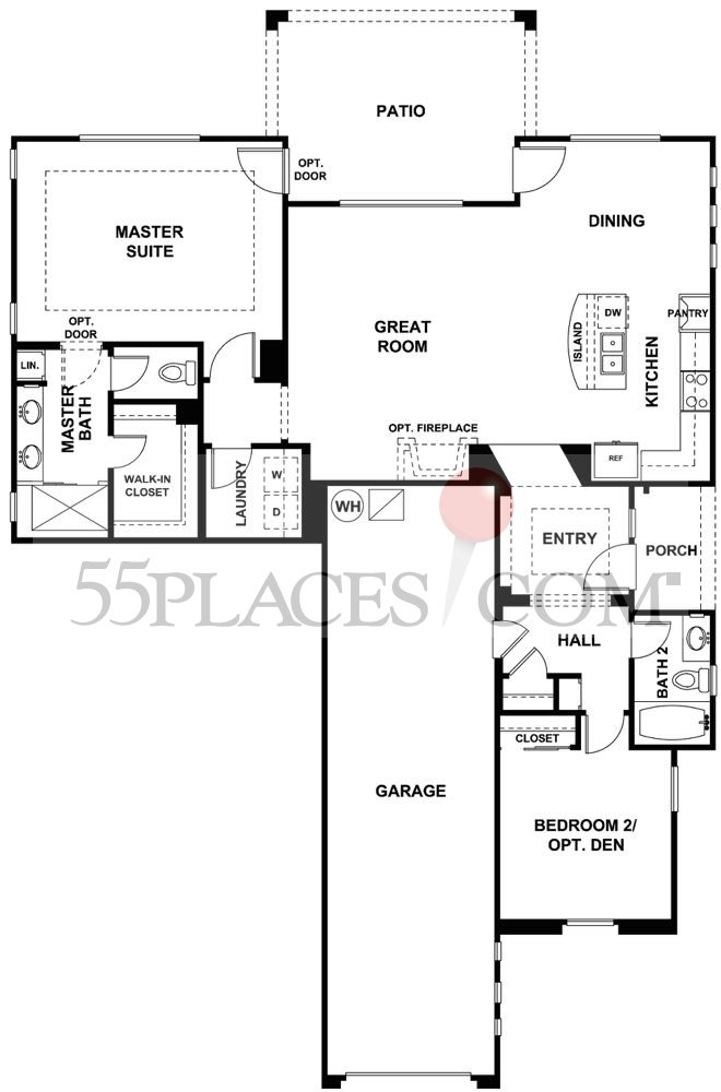 Cabrillo Floorplan 1404 Sq Ft Trilogy At Glen Ivy