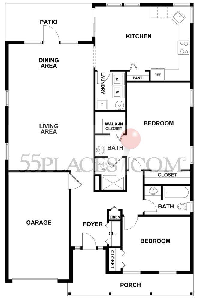 Caldwell Floorplan Homestead At Mansfield 55places