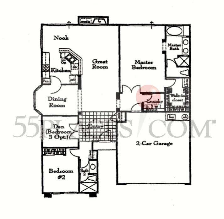 Cantare Floorplan 1746 Sq Ft The Villages Golf