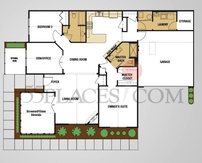 Canterbury Floorplan 1860 Sq Ft Abbey Glen