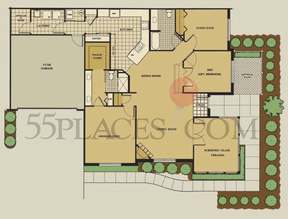 Canterbury Floorplan 1816 Sq Ft Abbey Glen 55places Com