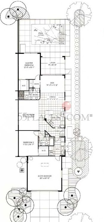 Capri floorplan 1522 sq ft villagewalk of bonita for Capri floor plan