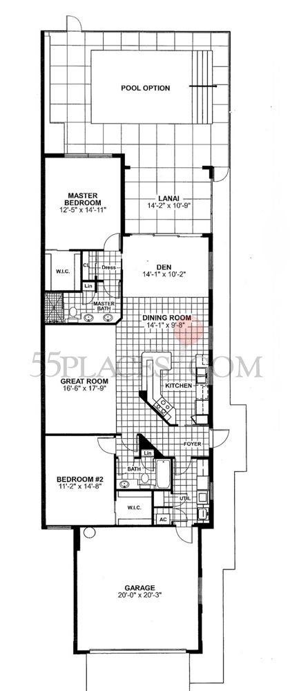 capri floorplan 1522 sq ft island walk ForCapri Floor Plan