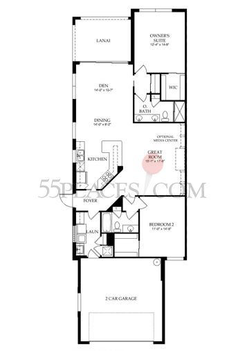 Capri floorplan 1526 sq ft veronawalk for Capri floor plan