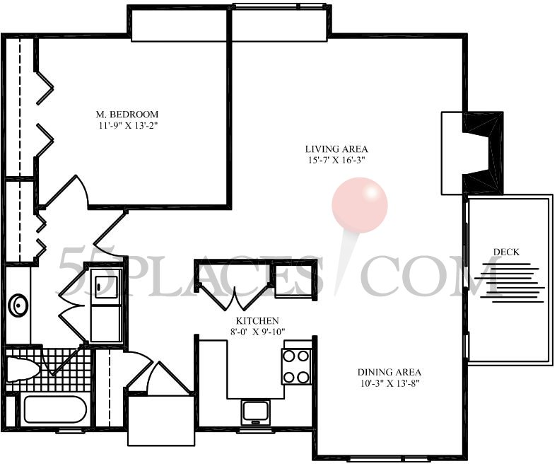 carriage house 955 sq ft approx - Carriage House Floor Plans