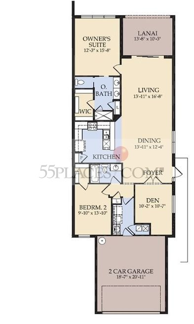 Carrington Floorplan 1542 Sq Ft Villagewalk Of Bonita