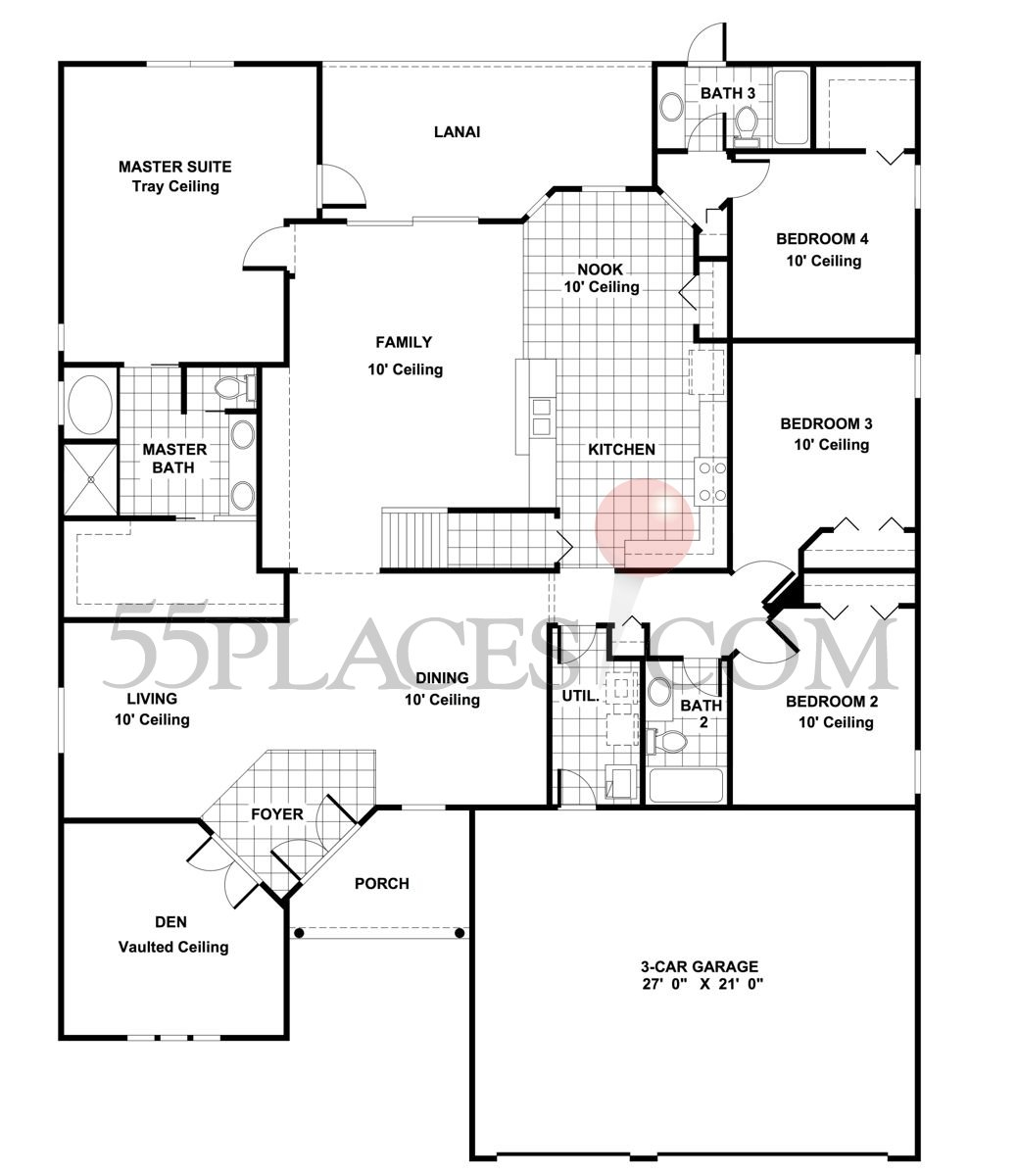 Carrington Ii Floorplan 3078 Sq Ft Wellington At