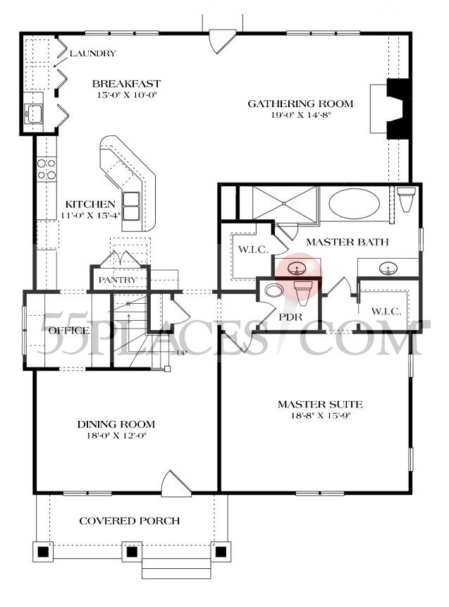 Cascade Floorplan 2453 Sq Ft The Cottages At The Village Of Carolina Place 55places
