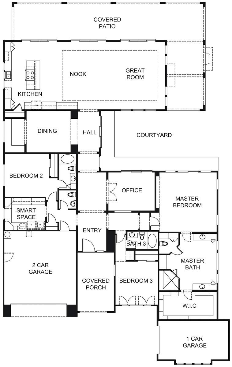 Carina Floorplan 3287 Sq Ft Trilogy At Verde River 55places