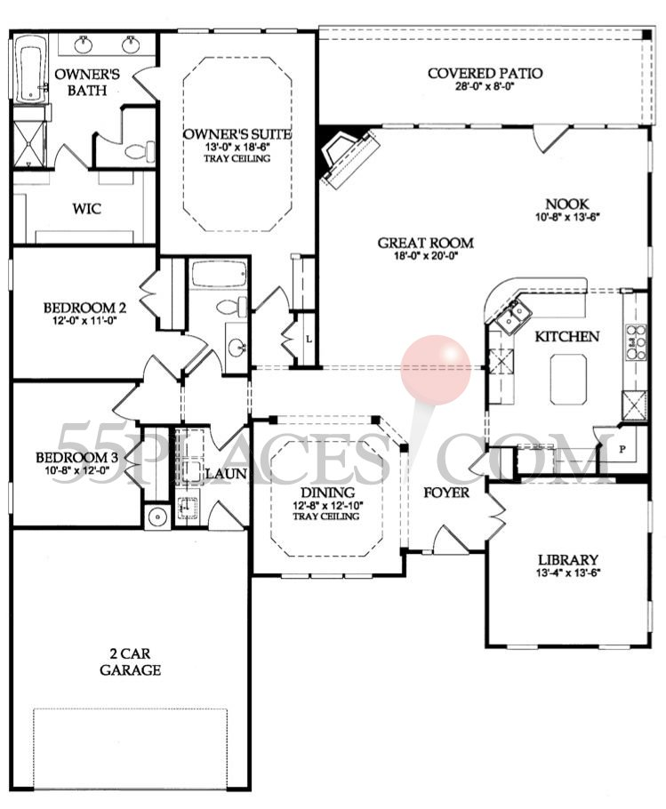 Chestnut garden floorplan 2246 sq ft the haven for Garden home floor plans