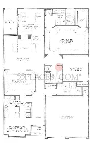Danbury Floorplan 1827 Sq Ft Greenbriar At Marlboro
