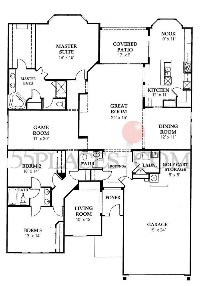 Deleon Floorplan 2764 Sq Ft Sun City Texas 55places Com