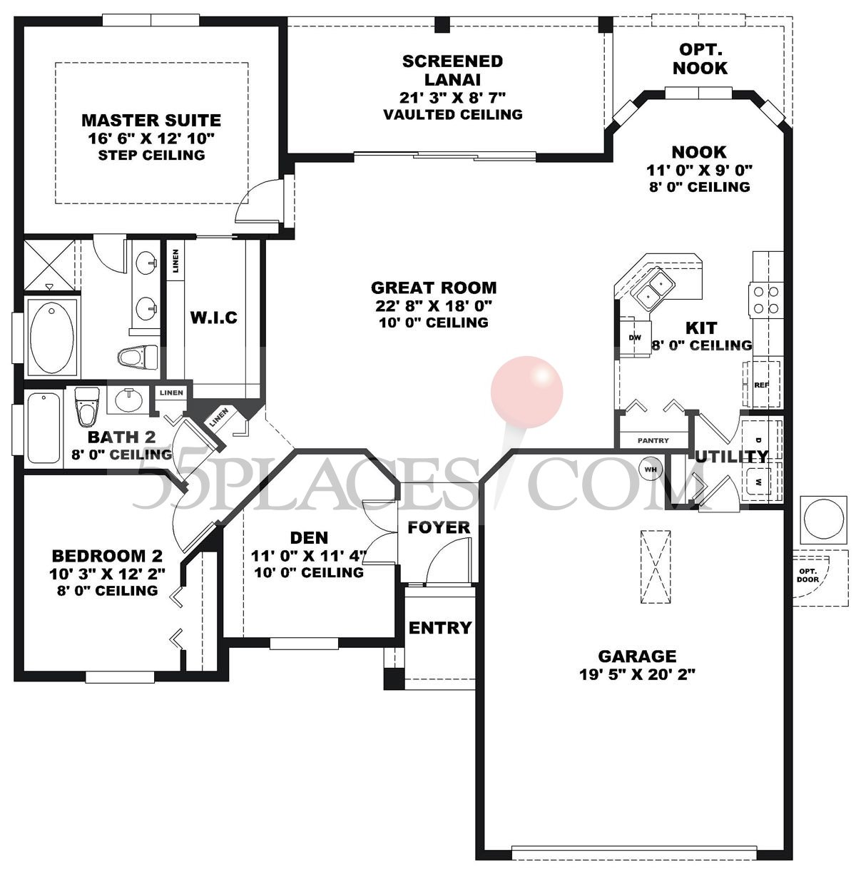 Devonshire floorplan 1552 sq ft legacy of leesburg for Devonshire floor plan