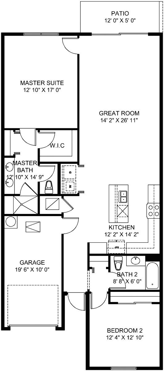 Margaret Floorplan 1349 Sq Ft Avalon Trails 55places