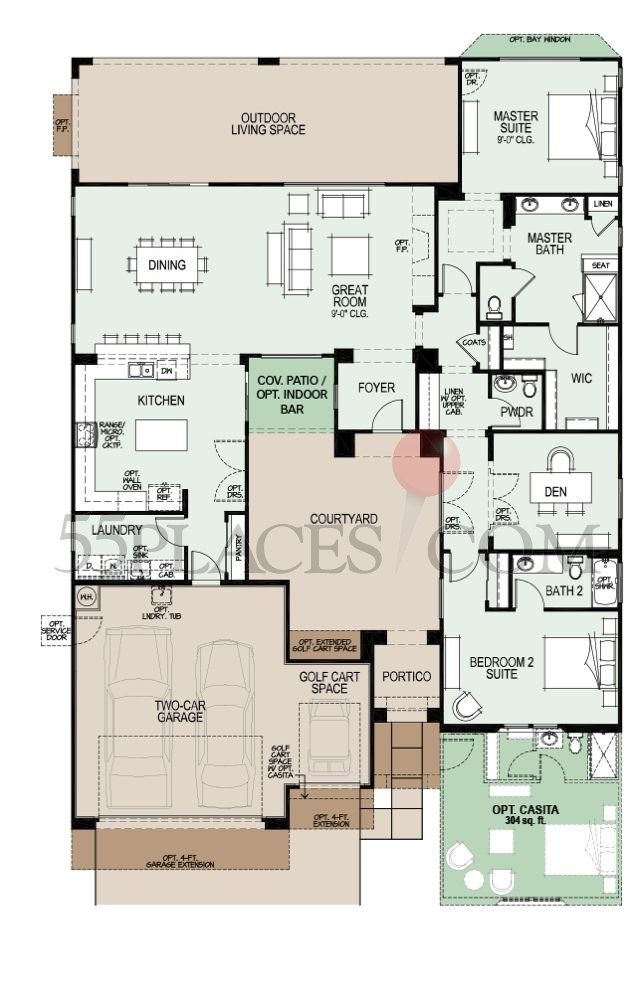 Esperanza Floorplan | 2243 Sq. Ft | Robson Ranch - Arizona ...