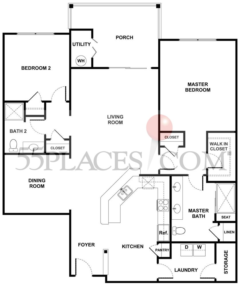 Foxcroft Floorplan 1478 Sq Ft Regency At Dominion Valley 55places