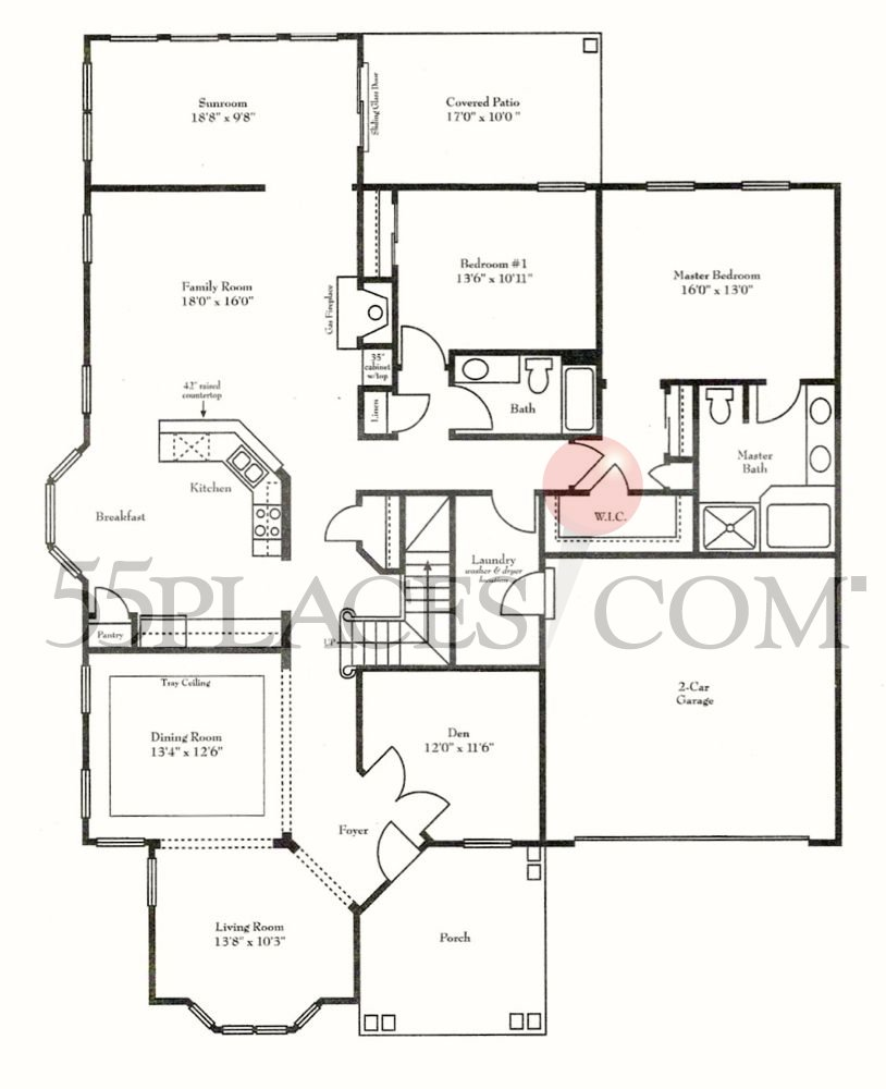 Georgetown Floorplan | 2910 Sq. Ft | Heritage Shores | 55places.com