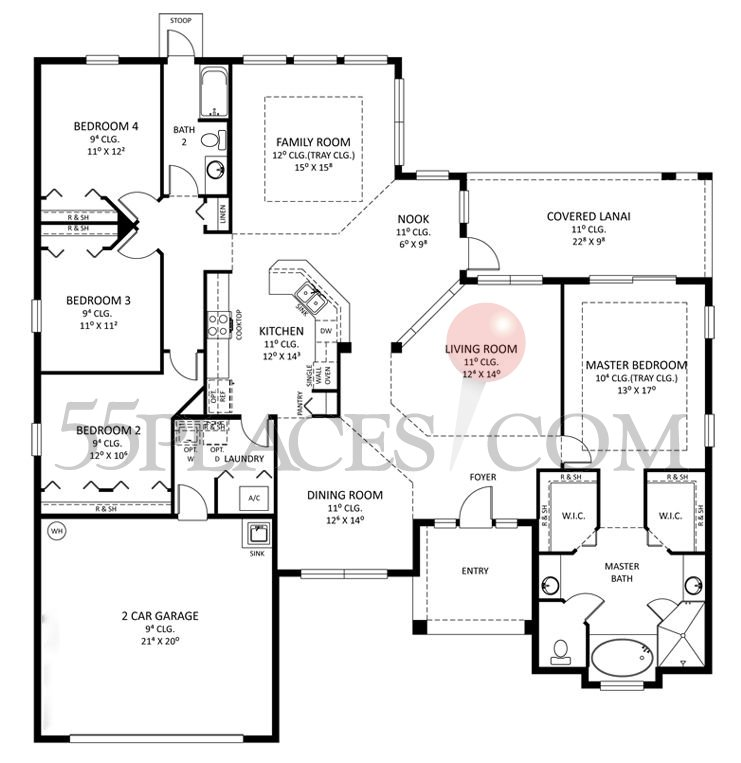 Grand Westminster Floorplan | 2478 Sq. Ft | Grand Haven | 55places.com