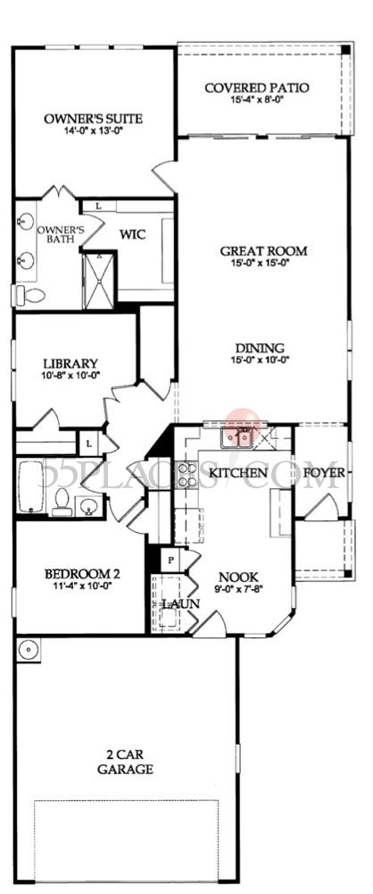 Gray Myst Floorplan 1392 Sq Ft Del Webb At Cane Bay