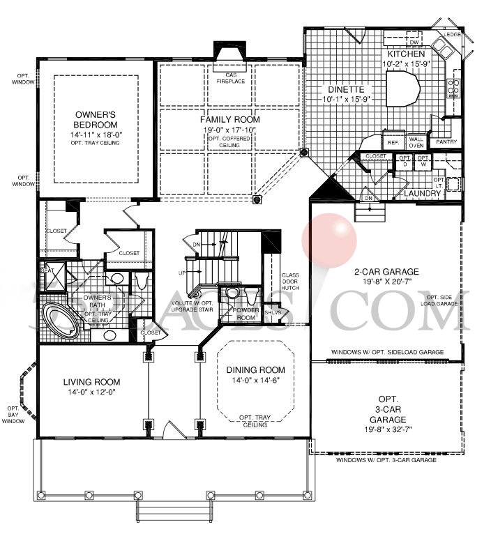 Greystone floorplan 3211 sq ft the villages at red for Greystone homes floor plans
